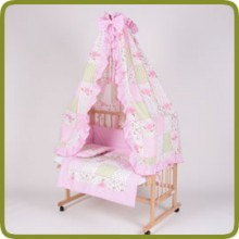 Bed side cot all inclusive 90x40cm, rose - Lits